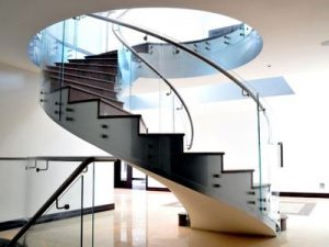 Modern Steel Staircase Inside and Outside