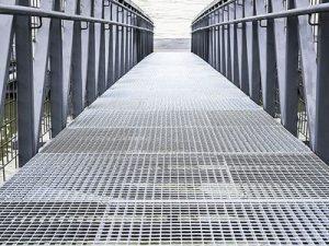Walkway Made of Bar Grating